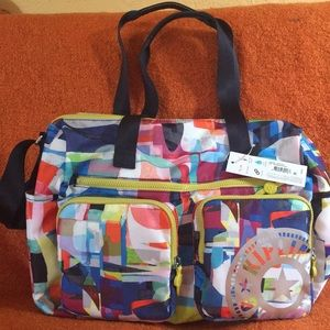Kipling stefany nylon tote/travel/gym/diaper bag.