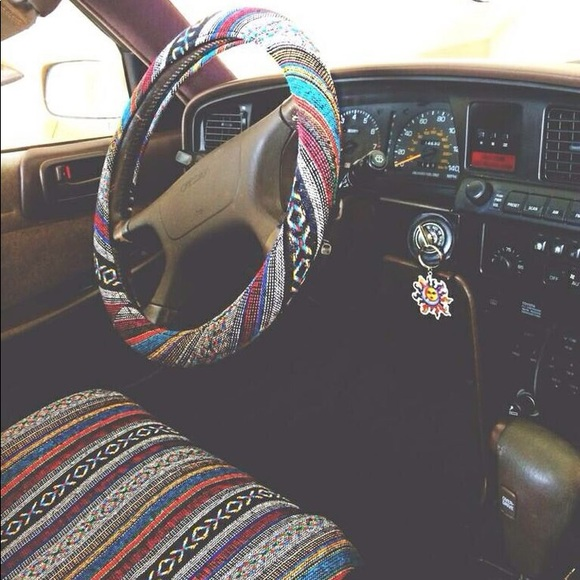 Aztec Car Seat Cover And Steering Wheel