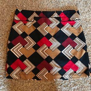 LOFT Geometric Mini Skirt