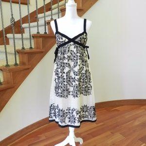 Anna Sui black and cream dress