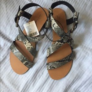 1c315fa6b Urban Outfitters Shoes - •nwt UO snake print sandals •