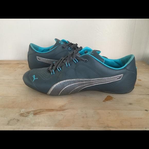7d98a827b80 Puma Soleil V2 Gray and Teal Leather Shoes. M 59b57cbdc284563daa04eccd