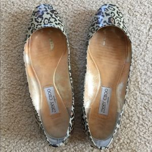 Authentic Jimmy Choo leopard flat used