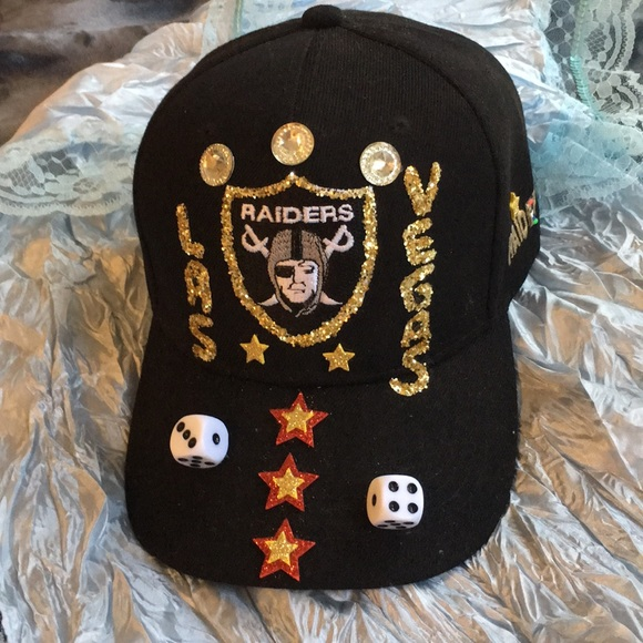Las Vegas raiders NFL costume made hat 🎩