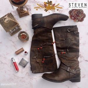 🍁🌻🍂STEVEN BY STEVE MADDEN Ryley Riding Boots