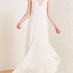 Reformation Angelina Dress in Eggshell
