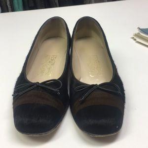 Salvatore Ferragamo block heel flats