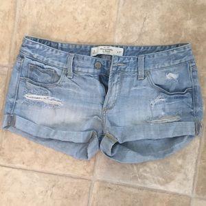 A&F: Light Wash Jean Shorts