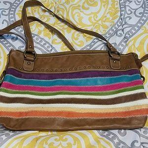 Handbags - Colorful faux suede bag