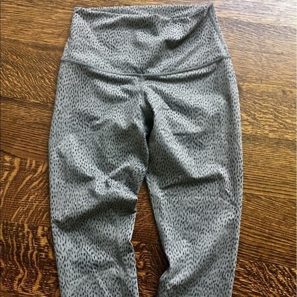 0cb87f86f lululemon athletica Pants - Lululemon Gray and Black animal print leggings