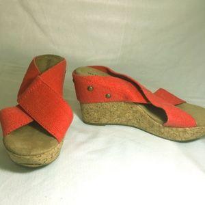 Merona Nadia Wedge Red shoes Size 7