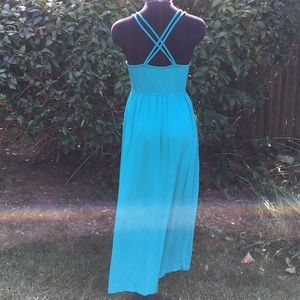 Cynthia Rowley Teal maxi dress EUC!!