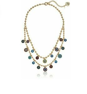 lucky charm multi eye necklace NWT