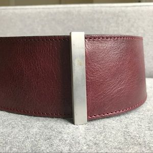 Accessories - Burgundy leather hip belt