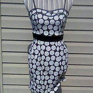 Three Hearts Brown w/Dots Spaghetti Strap Dress SL