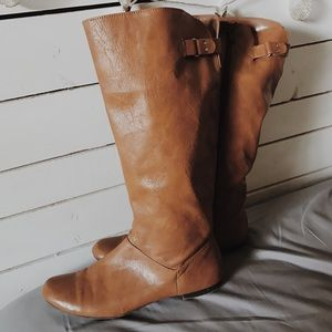 Shoes - Knee High Brown Boots