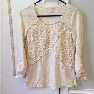 Skies are Blue cream colored blouse.