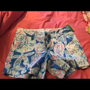 Lilly pulitzer Callahan shorts size 4 nwt