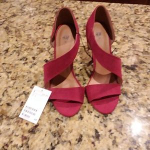 H&M red suede heels