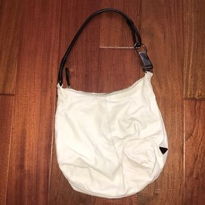 White Leather Prada Bag