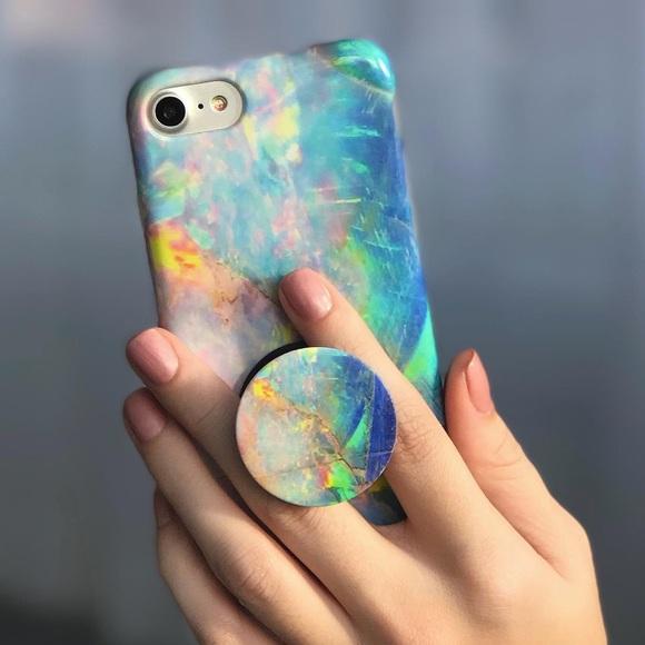 factory price 23529 8604e iPhone 6/6s Velvet Caviar Case & Popsocket