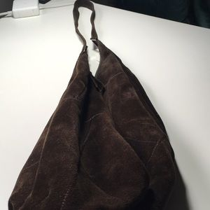 Banana Republic brown suede slouch bag