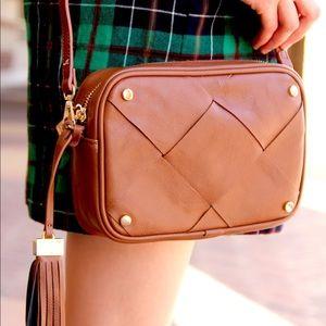 • 88 handbags • zoe walnut vegan crossbody bag