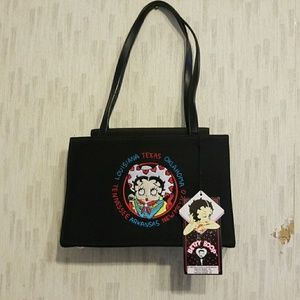 Betty Boop  Purse with Embroidered Face and logo