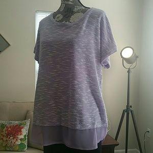 Style & Co Lavender purple shirt Size XL