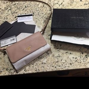 New Prada cross-body wallet with detachable strap