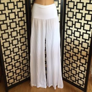 NWT Kenneth Cole white gauze cover up pants