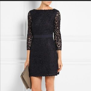 Tory burch renny guipure lace dress 4 navy blue