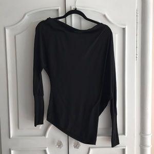 Tops - Black asymmetrical top