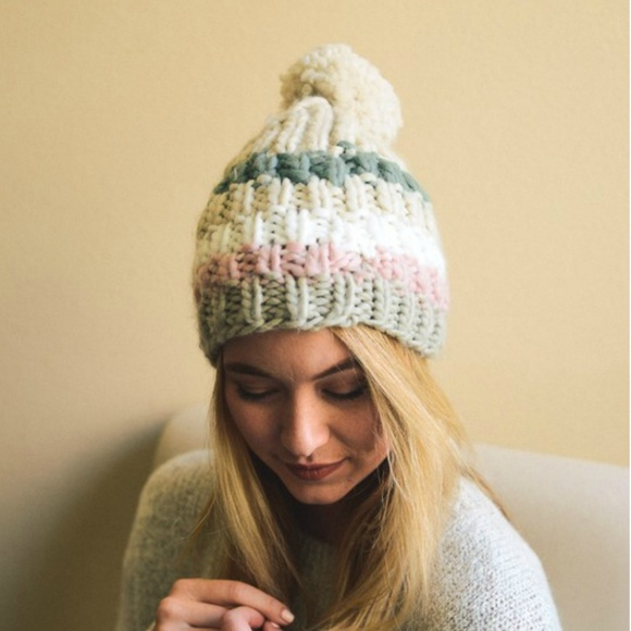 Happy Organics Boutique Accessories - Knit Pom Pom Winter Beanie