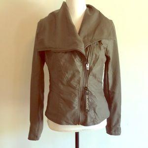 Blank NYC moto style jacket NWT leather like