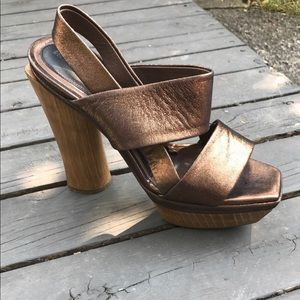Marni 5 in. platform wood heels- GREAT condition