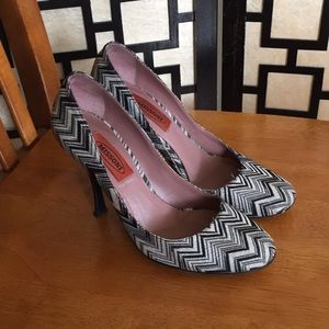 Missoni black and white heels