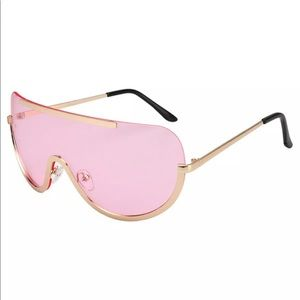 Pink barbie gold aviator sunglasses goggle rave