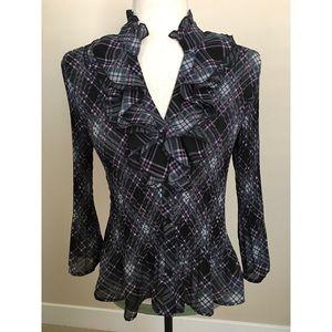 💐👚👩🏻💼Lovely, romantic, ruffled blouse 💝💜