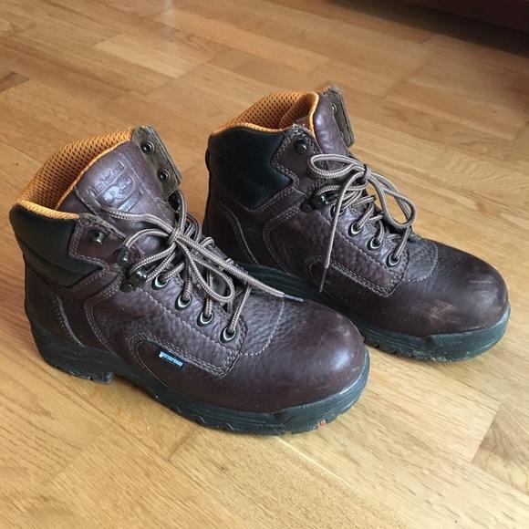 Women s Timberland Pro Titan Waterproof Brown Boot.  M 59b5a0c5c28456bba5059f1b 240685c5e4