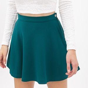 forest green skater skirt