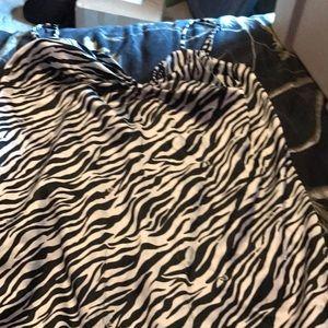 Victoria secret lingerie dress zebra print