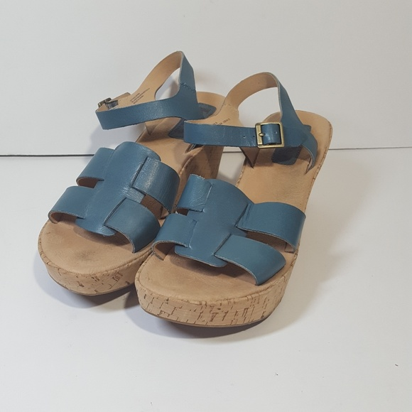 48336393a3 kork ease Shoes | Korks By Brie Wedge Sandals Teal 9m | Poshmark