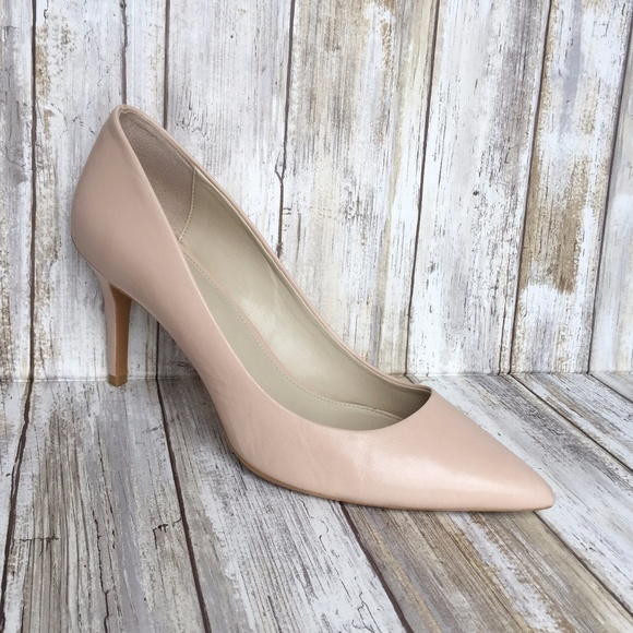 0192a48a8a Calvin Klein Shoes - Calvin Klein Gayle Pink Leather Pointy Toe Pumps