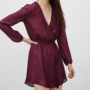 Aritzia Talula Dress (in maroon)
