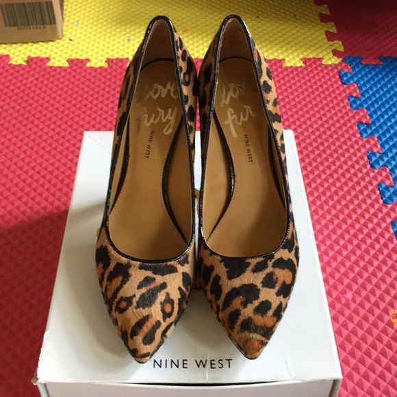 eebe2d9b1a9 Nine West Love Fury Animal Print Pump Heels. M 59b5a5664e8d1731580597b8