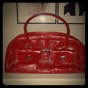 Hype red leather purse