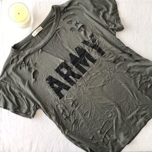 Tops - ARMY Cut out top