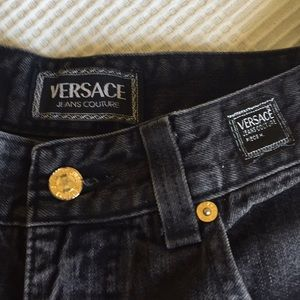 Vintage Versace high waist mom jeans