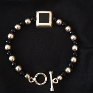 Jewelry - Sterling silver and Onyx Bracelet
